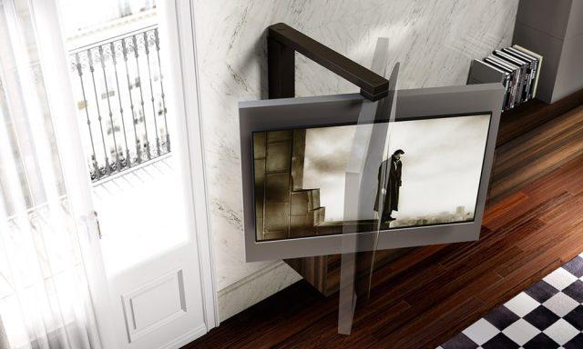 Astor mobili porta tv free 360 la tv visibile da ogni angolo - Braccio mobile per tv ...