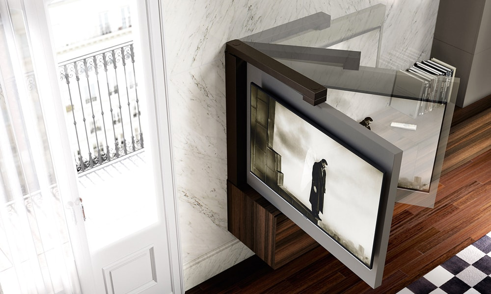 Soluzioni Porta Tv Parete.Berozzi It Astor Mobili Porta Tv Free 360 La Tv Visibile